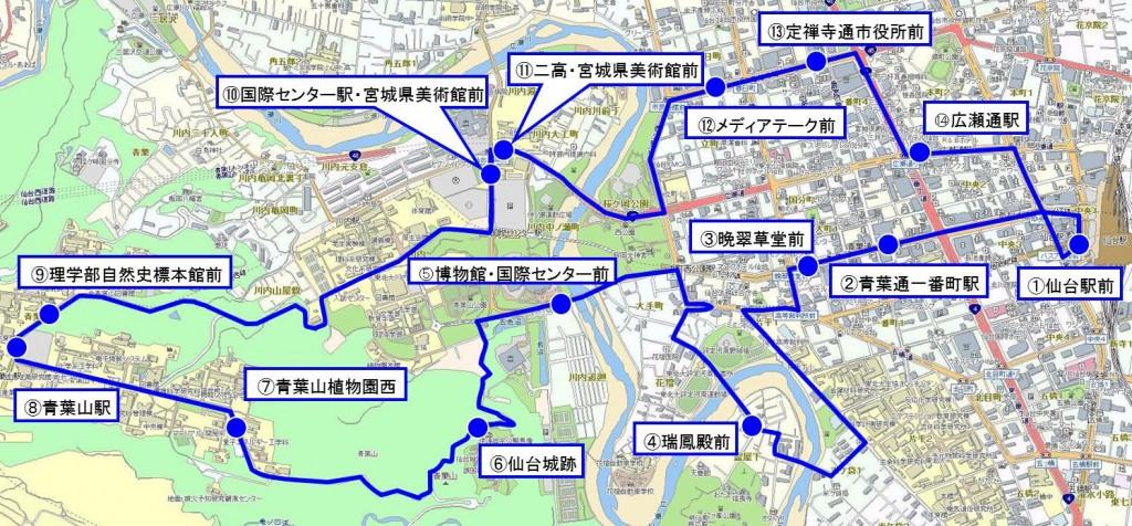290726七夕ナイト号運行経路図